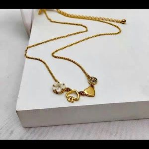 """Kate Spade 12k Plated Gold-Tone Necklace 17"""""""